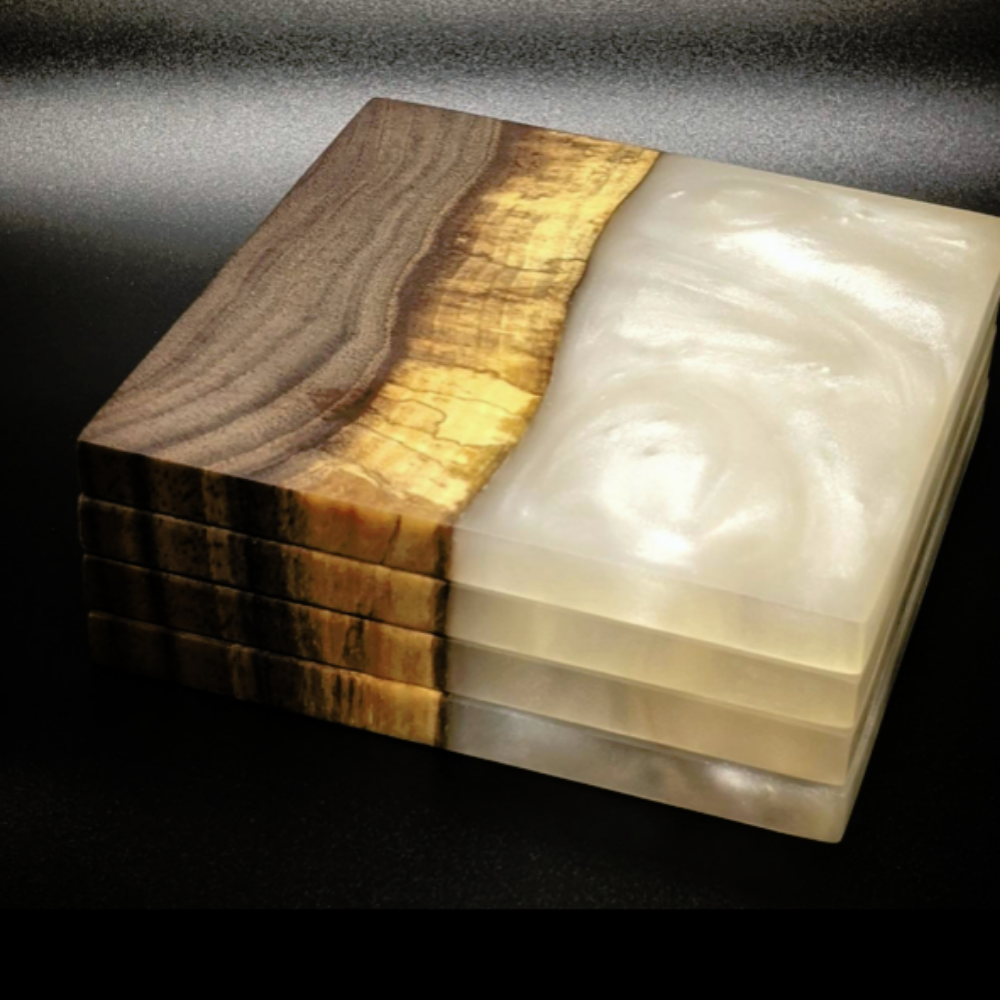 Wood and Resin Coasters with The Northern Joinery SOLD OUT