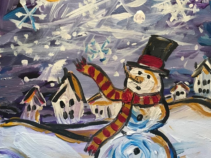 """""""A Frosty Eve"""" Holiday paint night with Dale Duncan"""